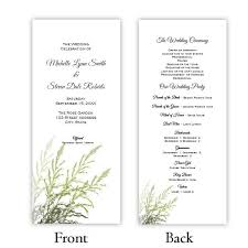 tea length wedding program template program tea length a j s prints