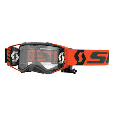 tear off goggles motocross scott prospect wfs roll off goggle black orange sixstar racing