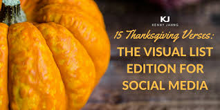 15 thanksgiving verses the visual list edition for social media