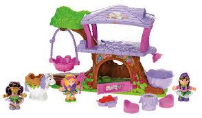amazon com fisher price little people fairyland treehouse giftset