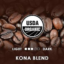 experience our organic kona blend coffee