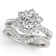 snowflake engagement ring a beautiful and perfectly matching diamond wedding set the center
