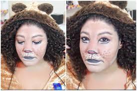 Cowardly Lion Costume Cowardly Lion Makeup Tutorial Halloween Makeup U0026 Costume Video