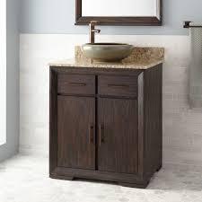 30 davyn vessel sink vanity rustic brown bathroom