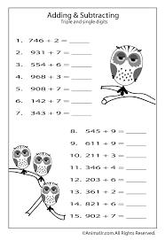 math worksheet adding single digits to 3 digits woo jr kids