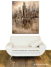 abstract home decor cityscape painting cream brown abstract art home decor 7865