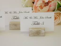 Table Card Holders by White Distressed Rustic Wood Place Card Holders Card Holders