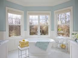 freestanding corner tub benjamin moore woodlawn blue bathroom