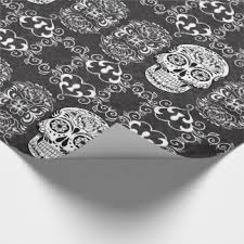skull wrapping paper dead wrapping paper zazzle