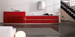 minimalist modern design modern red wall kitchen with grey