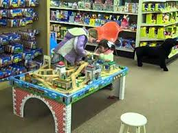 thomas the train wooden track table kids at thomas train table at toy house youtube