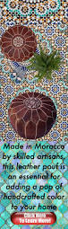 moroccan houses the classic marrakech style moroccan leather pouf made in morocco