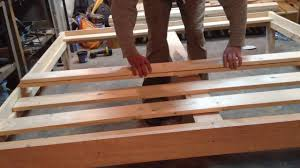 bed frames build your own platform bed do it yourself bed frame