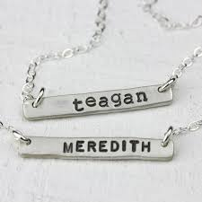 personalized silver bar necklace personalized bar necklace in sterling silver praxis jewelry