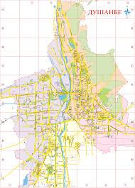Tajikistan Map Map Of Dushanbe U2013 City In Tajikistan Capital