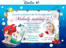 little mermaid birthday invitations ideas u2013 bagvania free