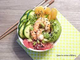 cuisine crevette poke bowl à la crevette marinée recette sur cuisine actuelle