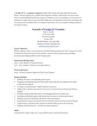 Computer Science Resume Template Science Resume Template Google Docs Templates