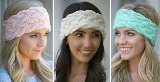 winter headbands braided knit winter headband 3 colors