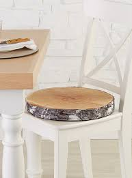 online home decor canada birch print chairpad 40 cm round chair pads tree trunks and