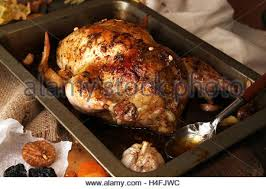roasted small turkey for celebration thanksgiving day in roasting