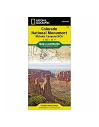 Colorado National Monument Map by National Geographic 208 Colorado National Monument Map Shop Online