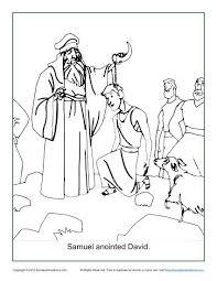 samuel anointed david coloring children u0027s bible activities
