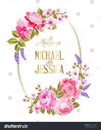 Marriage Wedding Invitation Cards Wedding Invitation Card Template Frame Tropic Stock Illustration