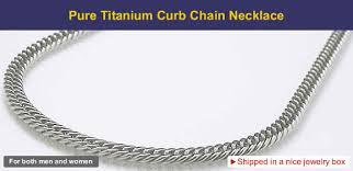 titanium curb chain necklace images Pure titanium curb chain necklace 5mm wide 50cm 19 6 quot ion jpg