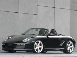 porsche boxster black 2006 techart porsche boxster sports side angle 1024x768