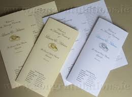 wedding booklets and wedding mass booklets and scrolls shop ireland for wedding