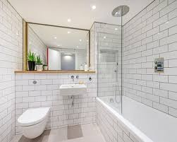 Bathroom Subway Tile Good Example Of White Subway Tiles With - Bathrooms with white tile