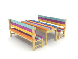childrens bench and table set 45 kids outdoor benches home and garden hgc junior butterfly kids
