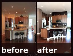 Paint Kitchen Cabinets Before After Kitchens Painted Gray