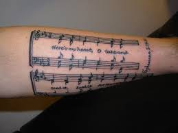 ideas musical notes tattoos