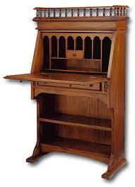 antique solid wood secretary desk laurel crown