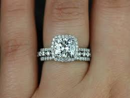 what are bridal set rings best 25 halo wedding set ideas on cushion wedding