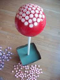 Candy Topiary Centerpieces - peppermint candy topiaries featuring lor from show tell share
