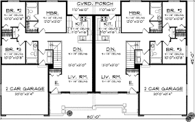 ranch duplex floor plans duplex country style house plans 2514 square foot home 1 story