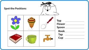 relative positions math worksheet for kids for more interesting