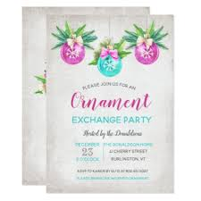 ornament exchange invitation cards merry
