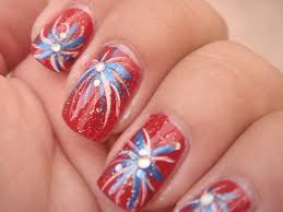4th of july nail ideas 4th of july firecracker fireworks