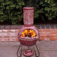 Chiminea Outdoor Fireplace Clay - chiminea clay outdoor fireplace home design ideas
