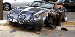 luxury cars logo crash wiesmann mf4 in monaco autoevolution
