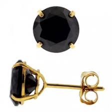 black earrings for men 14k yellow gold 6 00 ct black square cz push stud mens earrings 8 mm