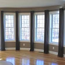 Dining Room Window Ideas Ideas For Multiple Windows Top Band Drapery Panels And Linens