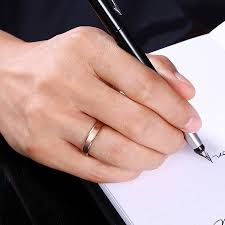 4mm ring minimalist design mens fashion finger rings 4mm gold color