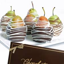 gourmet pears gourmet chocolate wedding favors