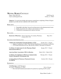 fantastical pharmacy intern resume 13 mayra cucullu cv resume