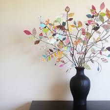 scrap paper tree centerpiece centerpiece ideas tip junkie